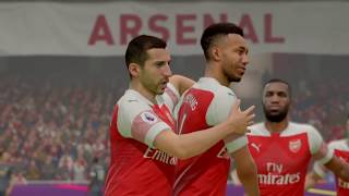 Arsenal vs Man United 2-0 fifa 19 Gameplay premier league highlights