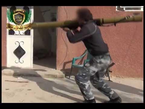 كتيبة المقداد بن عمرو تدمير دبابة بقاذف بي 29 في داريا