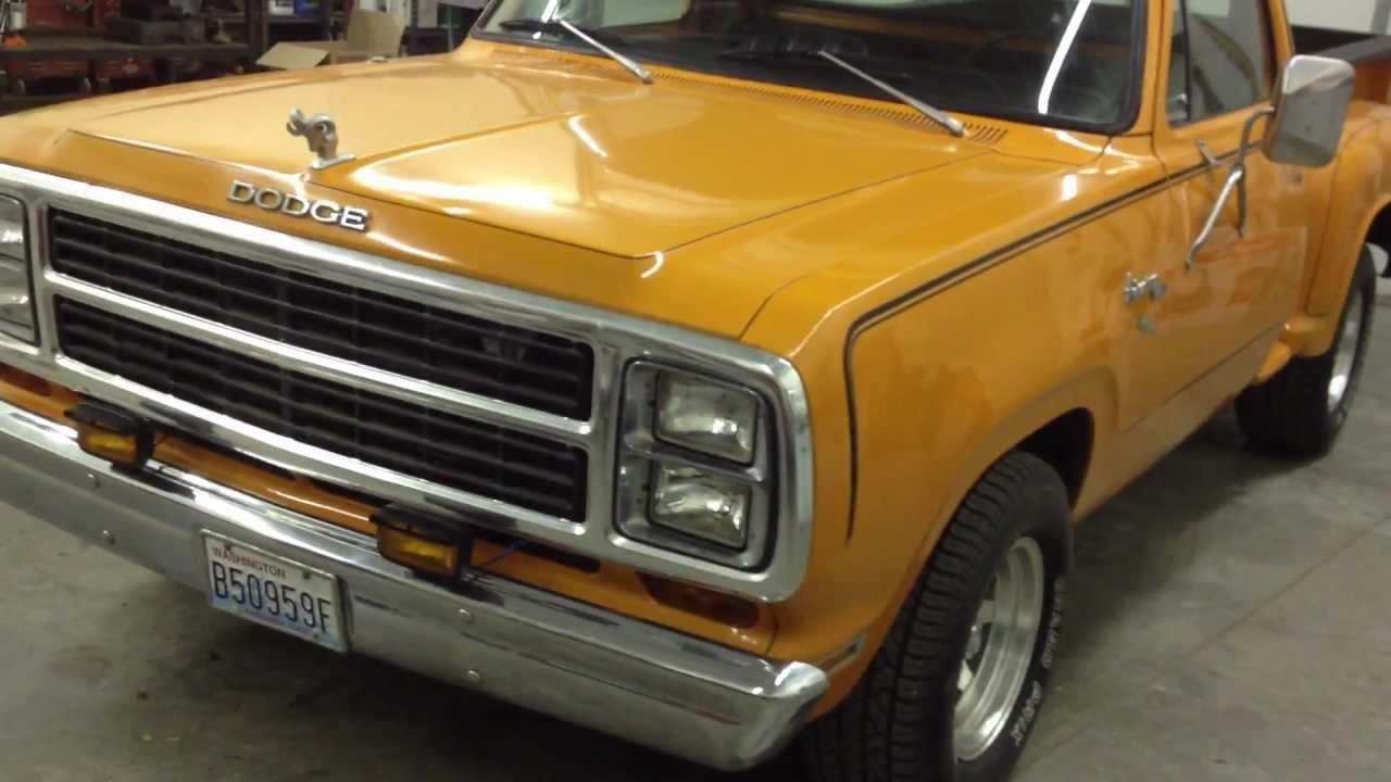1980 dodge stepside D150 truck Orange Express - YouTube