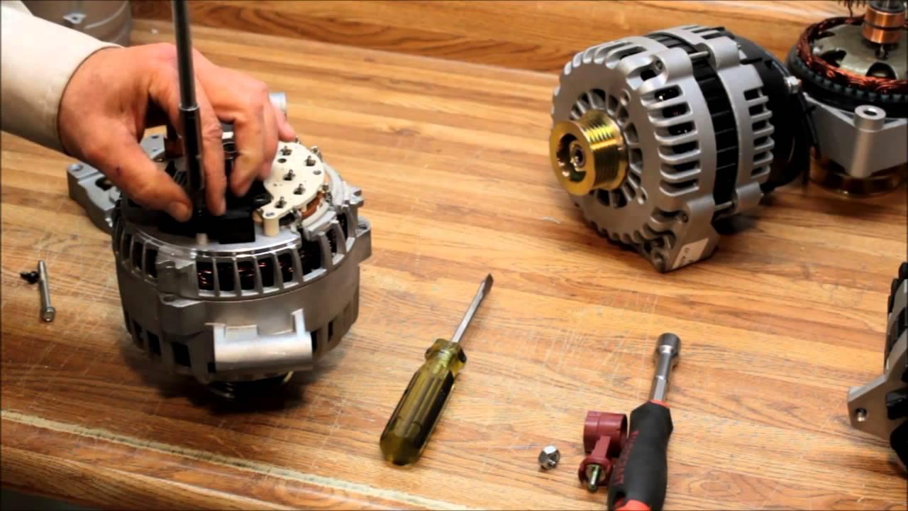 Installation Of Alternator Brushes On  Yamaha