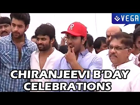 Chiranjeevi Birthday Celebrations at Chiranjeevi Blood Bank - Ram Charan, Varun Tej