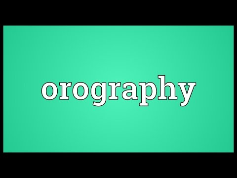 Header of orography