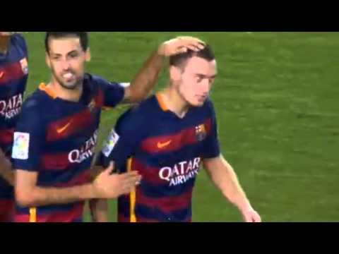 Fc Barcelona vs. Malaga CF 1-0 2015 Thomas Vermaelen Goal La Liga HD