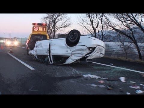 【中央道  横転事故発生直後に遭遇】渋滞≫緊急車両到着≫事故現場通過