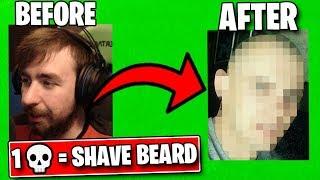 1 Elimination = Shave Beard - Fortnite Challenge