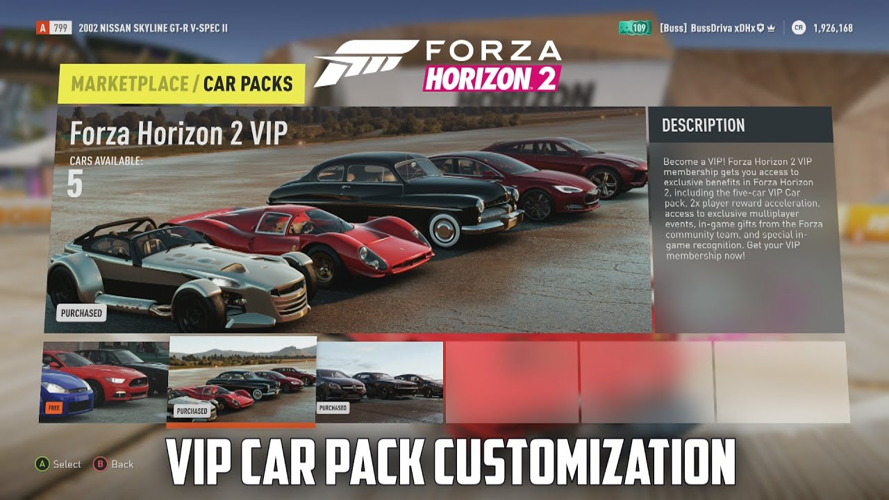 Vip Car Pack Forza Horizon