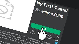 Playing asimo3089's FIRST ROBLOX GAME... (Before Jailbreak)
