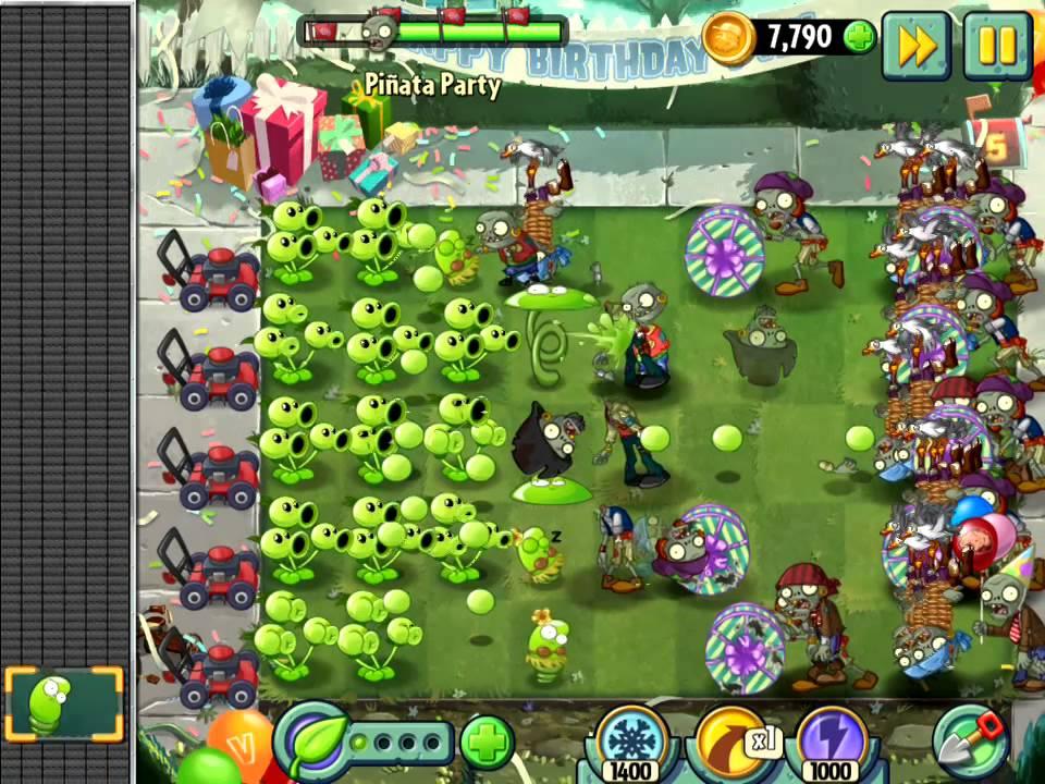 игра зомби против растений выживание бассейн