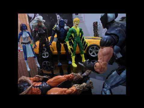 Xmen & Avengers vs Brotherhood (STOP MOTION)