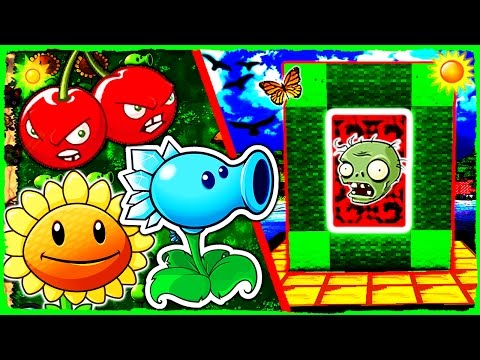 Minecraft Plants vs Zombies - How to Make a Portal to PVZ