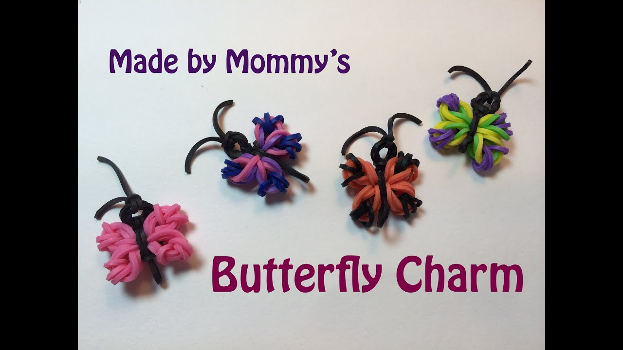 butterfly charm without the rainbow loom