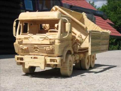 Машинки из деревянного конструктора