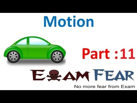 Physics Motion part 11 (Numerical) CBSE class 9 IX
