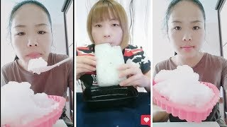 crushed reshaped ice | ice eating asmr | the best crunches