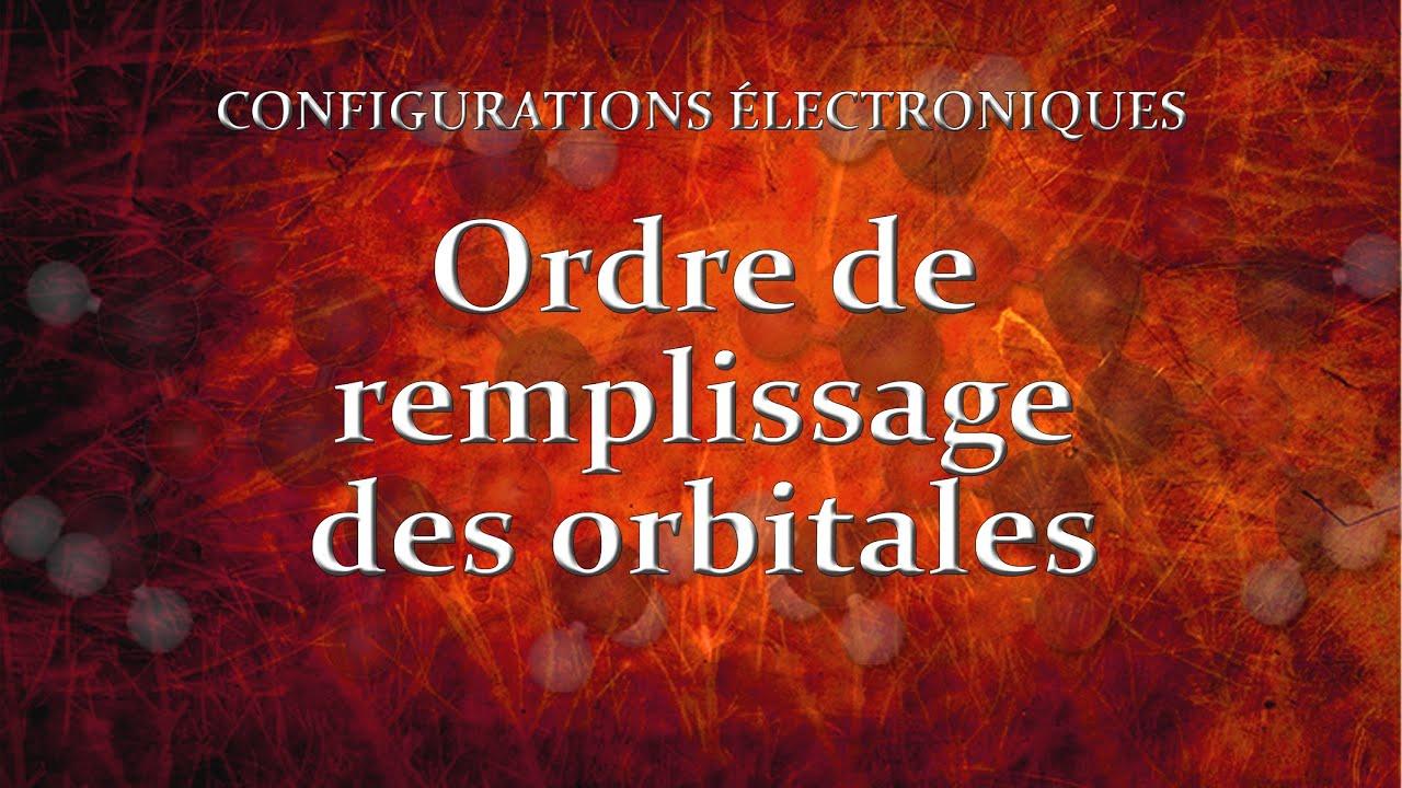 Ordre de remplissage des orbitales