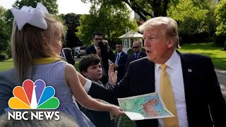 President Donald Trump Gives Kids Advice: 'Never Take Drugs, Don't Drink Alcohol' | NBC News