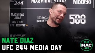 "Nate Diaz says UFC 244 fight with Jorge Masvidal ""is warfare"""