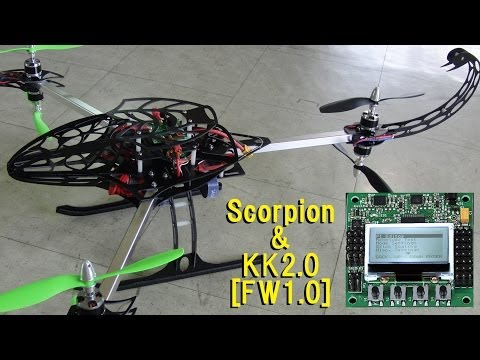 Y650 Scorpion KK2.0 LCD Board Version Vol.32 Test flight