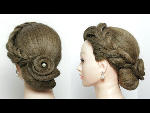 Bridal Hairstyle Tutorial. Easy Updo For Long Hair Step by Step