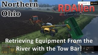 Retrieving Equipment From the River with the Tow Bar!  RDAllen Multiplayer Server