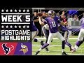 Texans vs. Vikings | NFL Week 5 Game Highlights MP3