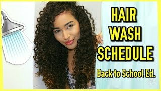 My Curly Hair-Washing Schedule w/ LexiMarcella | Back to School Edition