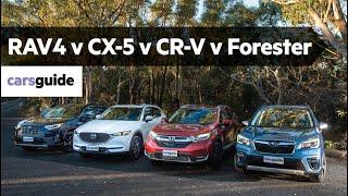 Honda CR-V vs Mazda CX-5 vs Toyota RAV4 vs Subaru Forester 2019 review