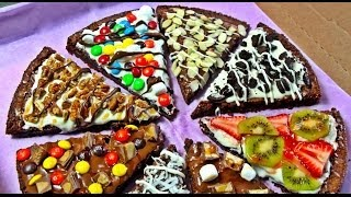PIZZA DE BROWNIE (nutella & chocolate blanco)
