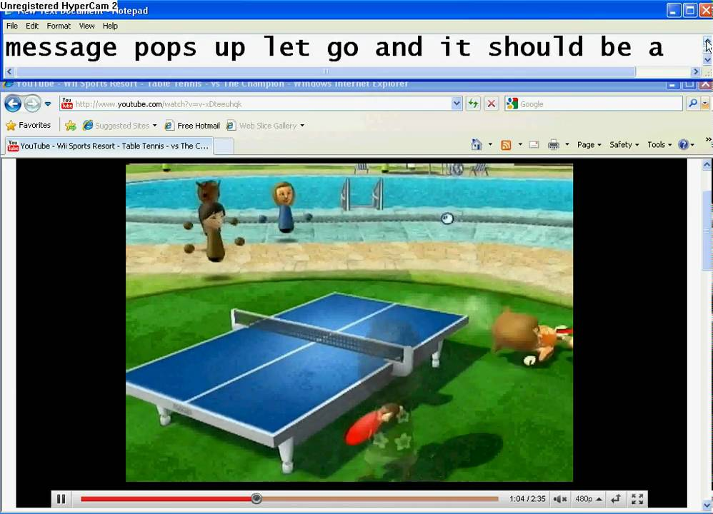 Wii sports resort cheat ping pongtabel tennis youtube - Wii sports resort table tennis cheats ...