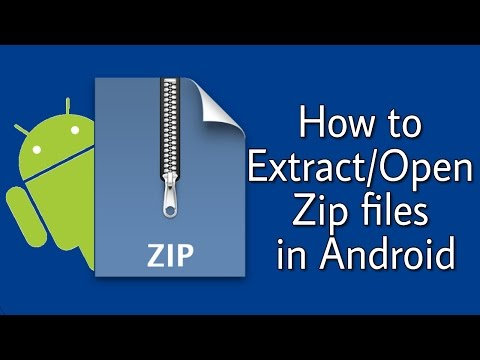 How to Extract/Open Zip Files on any Android easily [in Hindi]