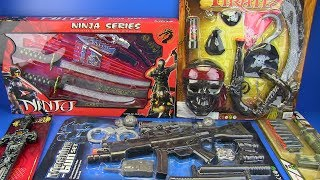 Guns Toys for Kids ! Ninja,Pirates,Military, Police Weapons & equipment Toys Video for Kids