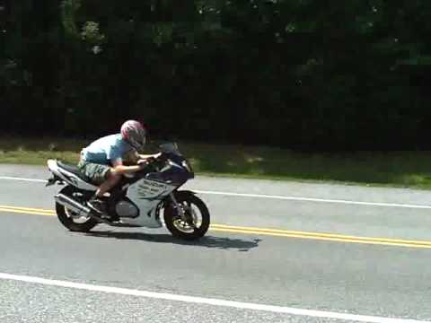 2006 Suzuki GS500F wheelie and 0-80mph Jardine exhaust