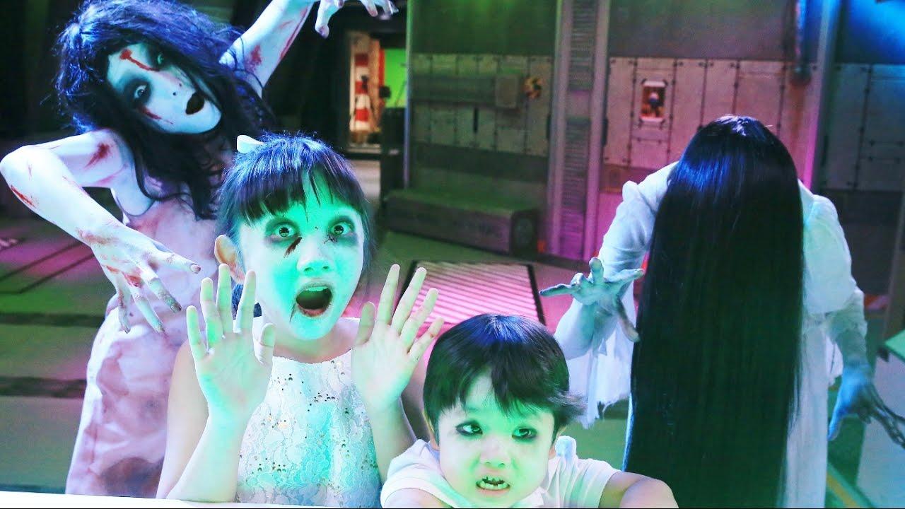 ★貞子&伽椰子と「だるまさんがころんだ!」をして遊んだよ!★360#貞子vs伽椰子#SadakovsKayako★