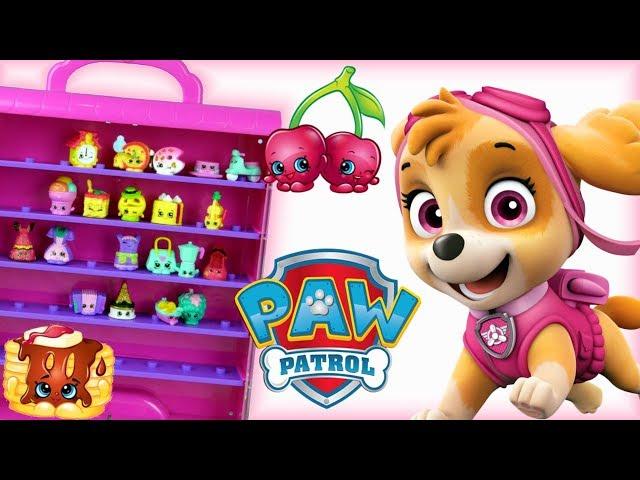 Psi Patrol & Shopkins • Niespodzianka dla Sky!!! • Wielka szafa z Shopkinsami • bajki dla dzieci