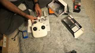 DJI Phantom Drone RC and WiFi Sunhans amplifier
