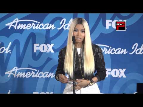 NIcki Minaj Press Con interview at American Idol Finals