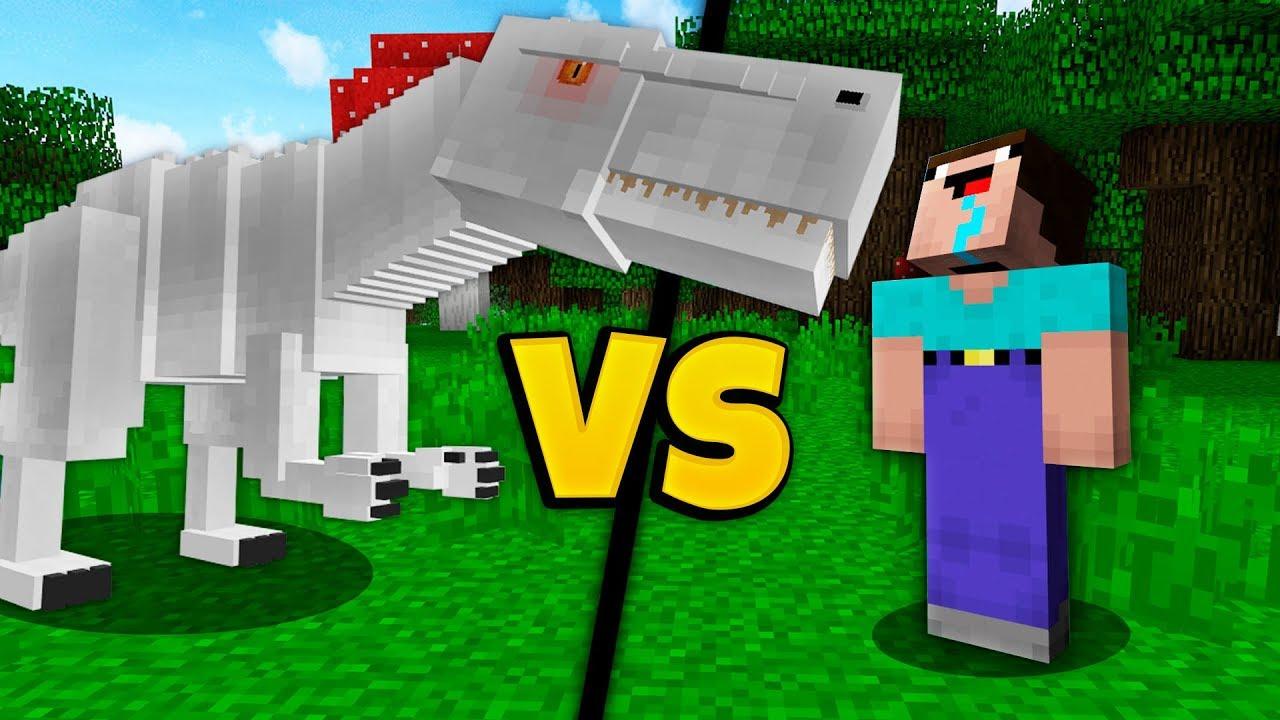 NOOB vs TREX IN MINECRAFT!