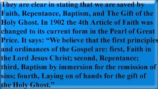 4th Article of Faith Exposed - Mormonism Exposed