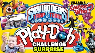 Skylanders Trap Team PLAYDOH Guess Who Challenge + Gulper Toy Surprise (Family Game)