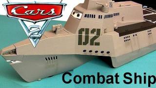 Cars 2 Combat Ship Playset with 3 Diecast Cars Tony Trihull Lights Sounds Diecast Disney Pixar toys