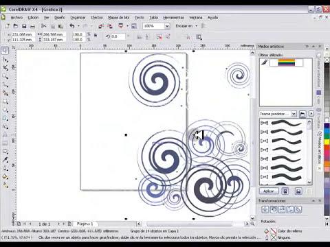 CorelDRAW X4-Fondo con espirales