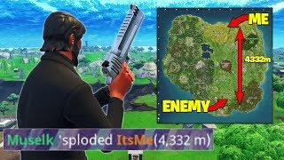 GETTING A 4000m+ KILL *RECORD* In Fortnite Battle Royale!