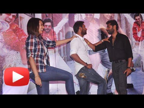 Prabhu Deva, Sonakshi Sinha And Ajay Devgn Dance On Keeda | Action Jackson | Song Launch video