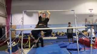 Old guy Muscle up, One Leg Back Lever, Reverse Pullover and a Lache