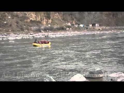 Water Rafting at kullu manali, Himachal Pradesh, India in Beas River. kullu manali river rafting