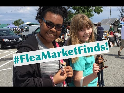Flea Market Finds! Banana & KGirl Find LPS Shoppies Bratz & More at New Castle County Farmers Market