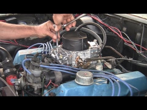 How To Do A Holley Carburetor Swap with Under Hood Driving Shot