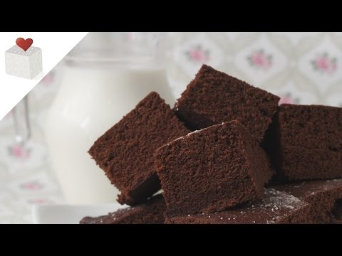 Bizcocho de Chocolate cocinado en Microondas | Recetas de repostería por Azúcar con Amor