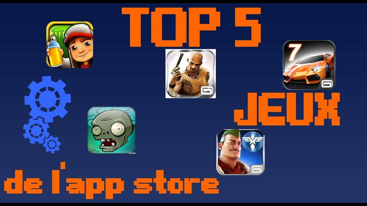 top jeux iphone 5 gratuit