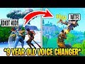 I Pretended To Be 12 In Playground Fills, Then DESTROYED.. (Fortnite)